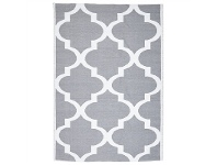 LivingStyles Coastal Trellis 150x220cm Indoor/Outdoor Rug - Grey