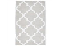 LivingStyles Coastal Trellis 150x220cm Indoor/Outdoor Rug - Taupe