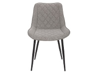 LivingStyles Lyon Commercial Grade Faux Leather Dining Armchair, Grey