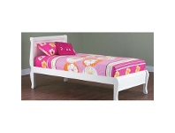 LivingStyles Copenhagen King Single Bed In Arctic White