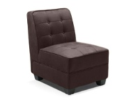 LivingStyles Consuelo Fabric Upholstered Accent Chair, Dark Brown
