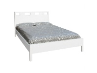 LivingStyles Collado Wooden Double Bed - Glossy White