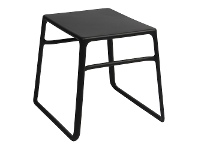 LivingStyles Pop Italian Made Commercial Grade Outdoor Side Table, Anthracite