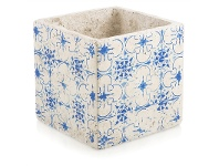 LivingStyles Fez Small Cement Planter - Blue