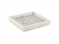 LivingStyles Claremont Cement Square Candle Plate