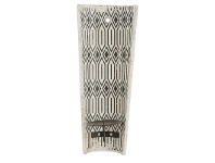 LivingStyles Milawa Ceramic Wall Mount Candle Holder, Charcoal