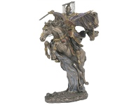 LivingStyles Veronese Cold Cast Bronze Coated Three Kingdom Legend Figurine, Liu Bei