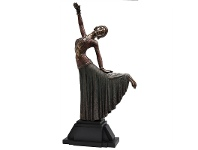 Veronese Cold Cast Bronze Coated Dancer Figurine, Movement II