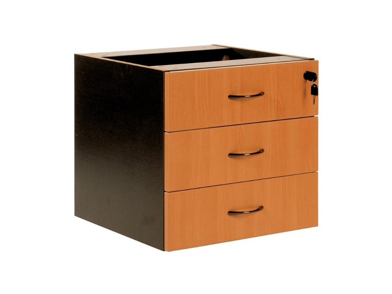 Logan 3 Drawer Storage Chest, Beech / Black