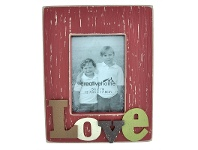 LivingStyles Rectangle Wooden Photo Frame with 3D Raised Letters - Love