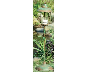 Old Street Distressed Metal Post Lantern - Small