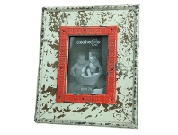 LivingStyles Rochefort 5x7 Inch Distressed Wooden Photo Frame - Cream