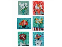 LivingStyles Kellie 6 Piece Canvas Magnet Set
