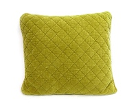 LivingStyles Square Quilted Cotton Pillow - Chartreuse