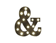 LivingStyles Marquee Ampersand Metal Wall Sign with LED