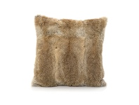 LivingStyles Petra Rabbit Fur Scatter Cushion, Brown