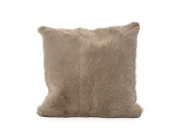 LivingStyles Petra Goat Fur Scatter Cushion, Taupe