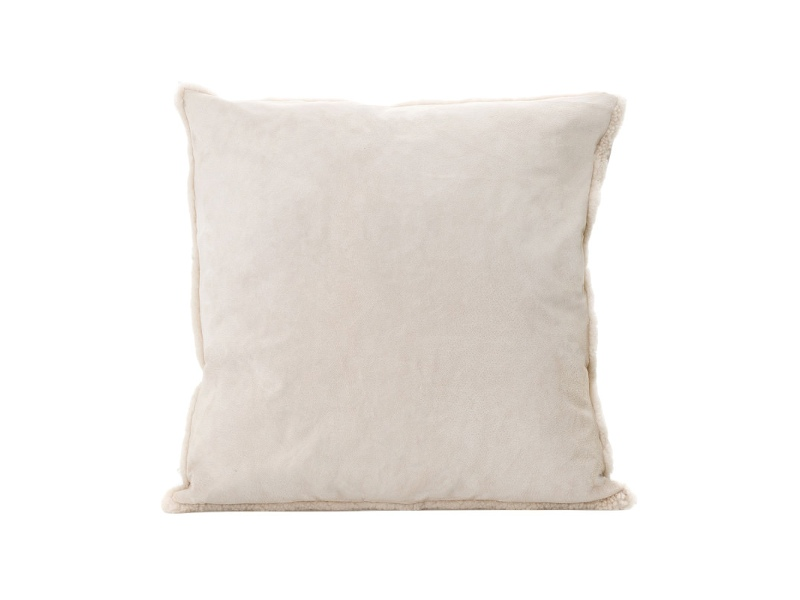 Tibetan Suede Scatter Cushion, Small, Cream