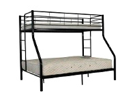LivingStyles Darwin Metal Trio Bunk Bed - Black