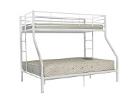LivingStyles Darwin Metal Trio Bunk Bed - White