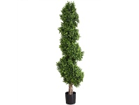 LivingStyles Artificial Boxwood Spiral Tree in Pot