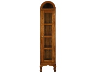 LivingStyles Gaidar Solid Mahogany Timber Single Door Display Cabinet - Light Pecan