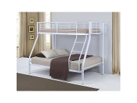 LivingStyles Duo Metal Trio Bunk Bed - White