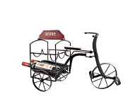 LivingStyles Tricycle Rustic Metal Wine Bottle Holder - 54cm