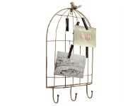 LivingStyles Metal Birdcage Design Picture and Card Holder