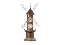 LivingStyles Windmill Metal Standing Clock - 77cm