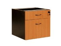 LivingStyles Logan Drawer & File Combo Storage Chest, Beech / Black
