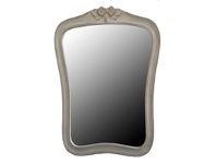 LivingStyles Mirror with Carving, White Wash