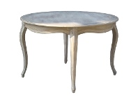 LivingStyles Lorient Beech Timber French Provincial Round Dining Table, 120cm