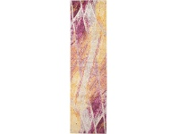 LivingStyles Divinity Strokes Turkish Made Modern Runner Rug, 300x80cm, Violet