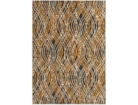 LivingStyles Dreamscape Flurry Turkish Made Modern Rug, 400x300cm, Charcoal