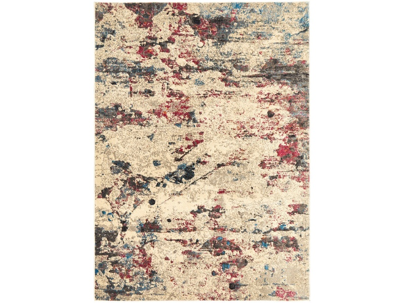 Dreamscape Destiny Turkish Made Modern Rug, 230x160cm, Cream / Ruby