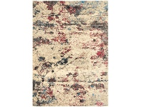 LivingStyles Dreamscape Destiny Turkish Made Modern Rug, 290x200cm, Cream / Ruby