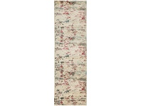 LivingStyles Dreamscape Destiny Turkish Made Modern Runner Rug, 400x80cm, Cream / Ruby