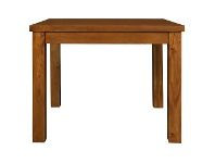 LivingStyles RPN Mahogany Timber Square Dining Table, 100cm, Light Pecan