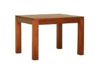LivingStyles Amsterdam Solid Mahogany Timber 90cm Square Dining Table - Light Pecan