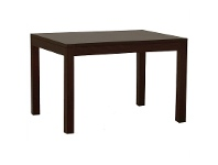 LivingStyles Amsterdam Solid Mahogany Timber 150cm Dining Table - Chocolate
