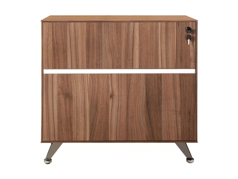 Milando 2 Drawer Filing Cabinet, Walnut