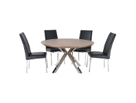 LivingStyles Nordic 120cm Round Dining Table (Table Only)