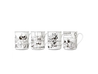 LivingStyles Noritake Le Restaurant Set of 4 Fine China Mugs