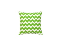 LivingStyles Mossman Chevron Cotton Canvas Scatter Cushion, Green