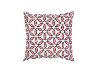 LivingStyles Mossman Rings Cotton Canvas Scatter Cushion, Pink