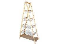 LivingStyles Teewah 4 Tier Metal Basket Storage Ladder