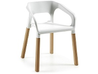 LivingStyles Rivulet Dining Armchairs - White