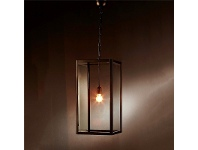 LivingStyles Archie Rose Metal and Glass Pendant Light, Large