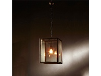 LivingStyles Archie Rose Metal and Glass Pendant Light, Small